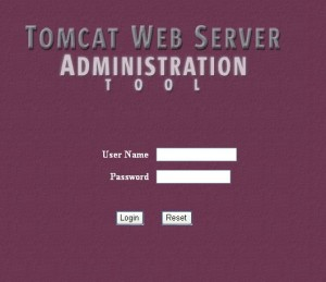 Tomcat Web Server Administration Tool 的登录界面